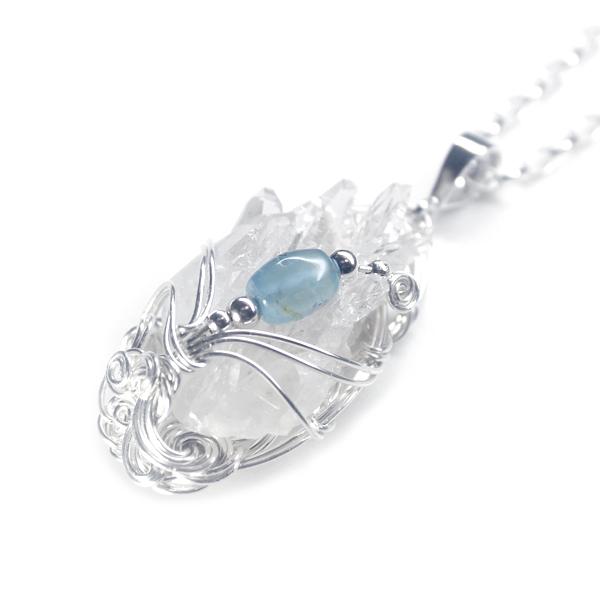 画像1: ヒマラヤ水晶クラスター・ペンダント