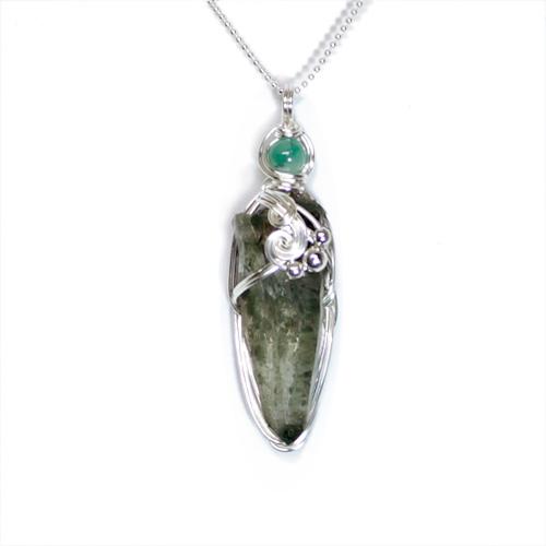 画像1: ヒマラヤ緑泥ルチル水晶・ペンダント