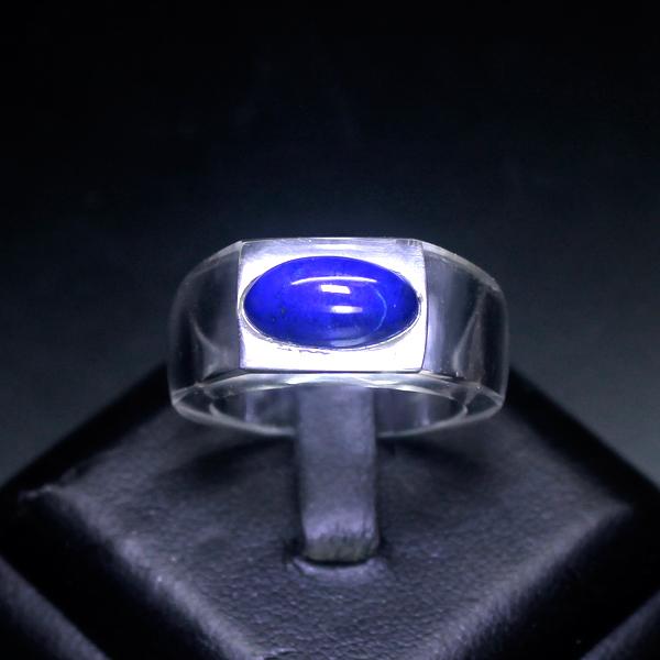 画像1: ヒマラヤ水晶リング(ラピスラズリ)